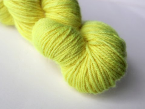 Highlighter Yellow RainCityKnits yarn
