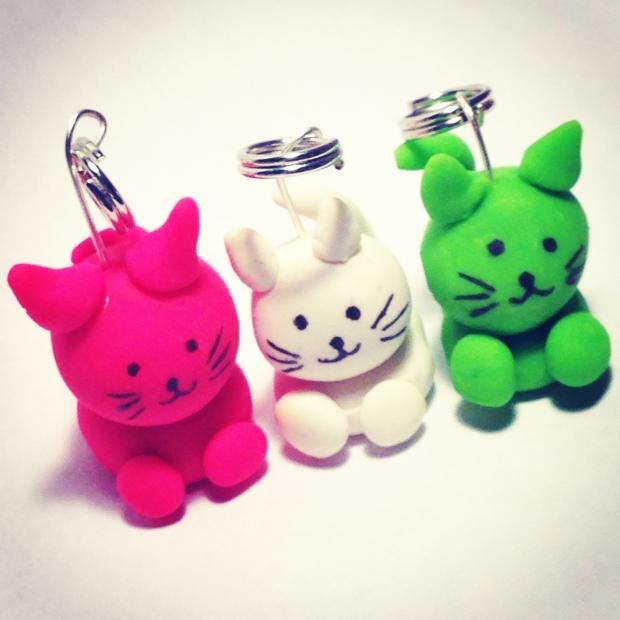 A trio of felines.