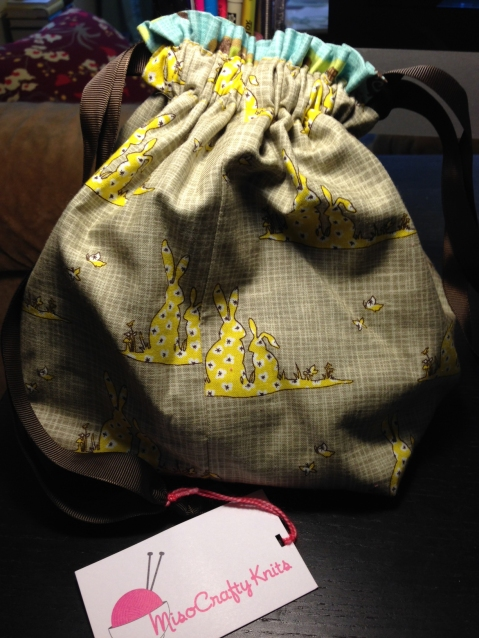 Project bag by Miso Crafty Knits.