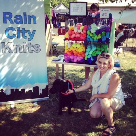 RainCityKnits booth.